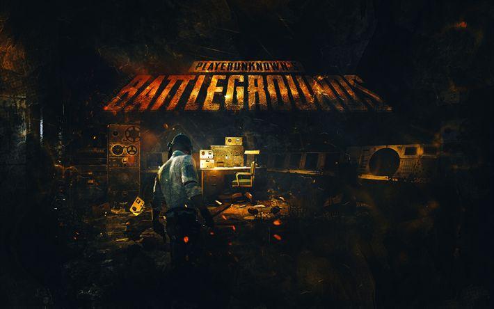 Download wallpapers 4k, PlayerUnknowns Battlegrounds, poster, 2017 games, art, Online games