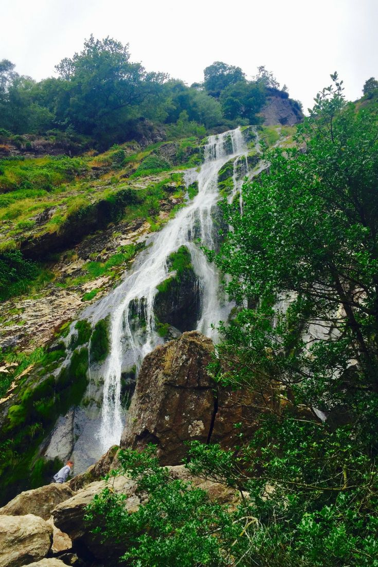 Powerscourt Gardens & Waterfall, just south of Dublin is a beautiful place to visit and take in the scenery.