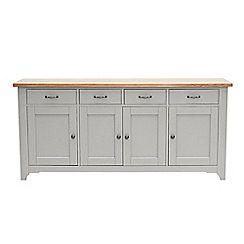 Willis & Gambier - White-washed oak and painted 'Worcester' extra-large sideboard £994 sale