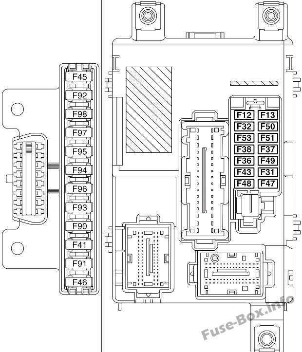 Instrument panel fuse box diagram: Fiat Doblo (2010, 2011