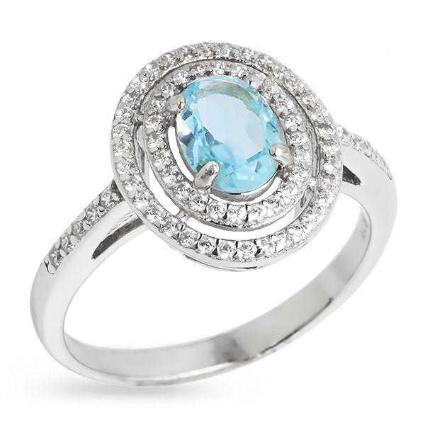 Серебряное кольцо Sandara с топазом RNR016 - Женские украшения