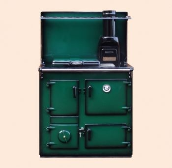 Reconditioned Rayburn No3 Green Shaded Enamel with Plate Rack and Splash Back