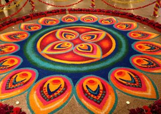 Most Easy and Classy Rangoli for Diwali 2016