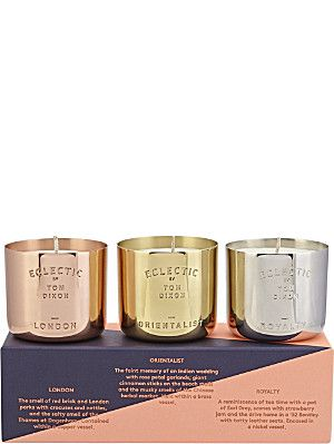 TOM DIXON Gift set of three scent candles