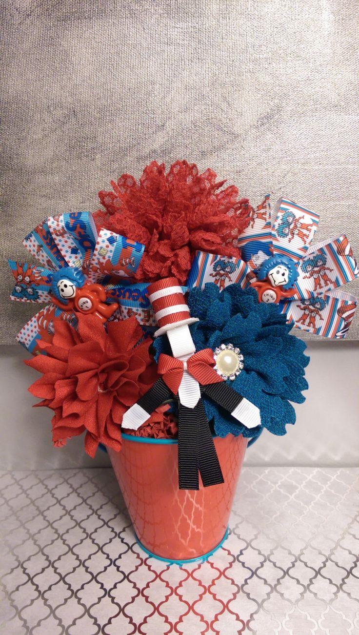 Dr. Suess Inspired Hair BowQuet by Bowquetsandbirthdays on Etsy, $35.00