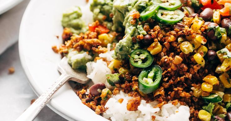 This vegetarian taco meat is made with cauliflower, walnuts, and chipotle peppers. It's so easy: just mix and bake. It's a meatless miracle!