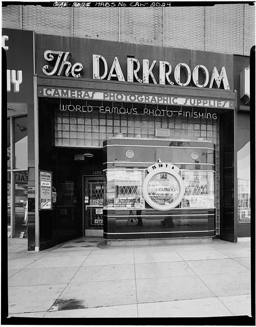Historic photo (circa 1972-77) of The Darkroom in Los Angeles by architectural photographer Marvin Rand.