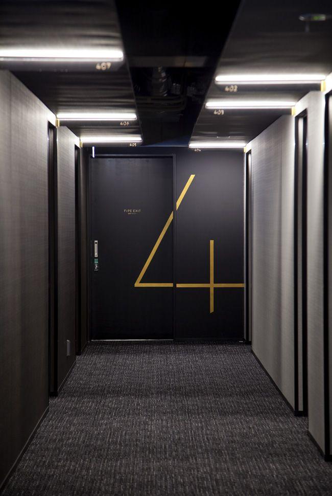 hotel risveglio akasaka / branding + sign design + art