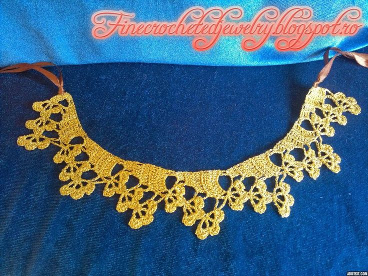 Fine thread crocheted necklace