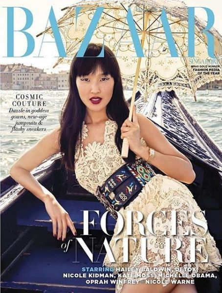 a62e3a69fa4c Nicole Warne - Harper s Bazaar Magazine Cover  Singapore  (January 2019)