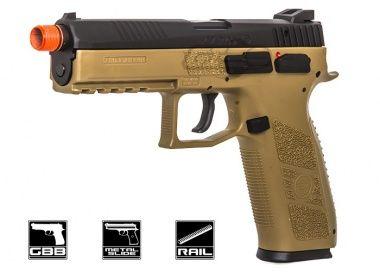 ASG CZ P-09 CO2 GBB Pistol Airsoft Gun ( Threaded Barrel / Flat Dark Earth )