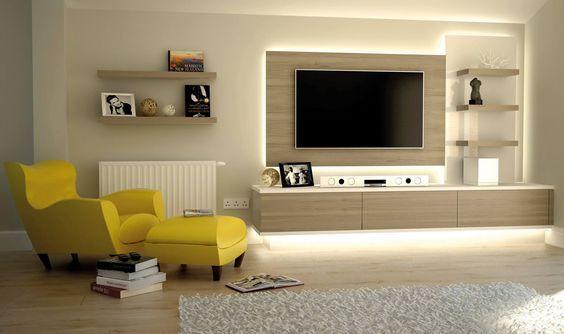 Tv Wall Livingroom Leds Lighting Televisión Pinterest Desks Living Rooms And Tvs