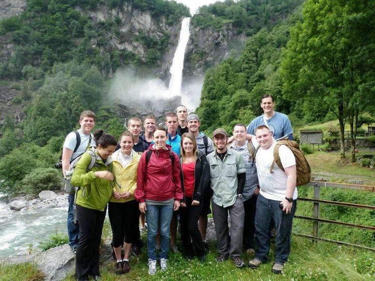 Amanda R with the group on the ERAU Prescott Campus Switzerland Summer Study