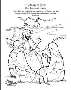 40 best sunday school images on pinterest sunday school for Lydia coloring page