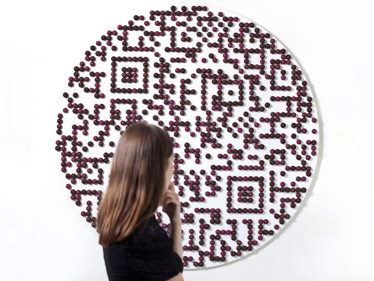 paul cocksedge: the gift - QR code for designs on chocolate
