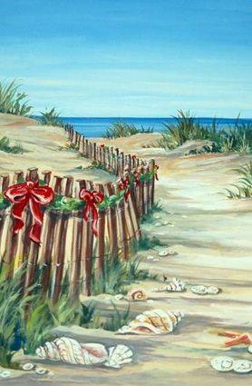 beach walk christmas cards - Beach Themed Christmas Cards