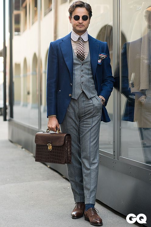 takablotaro:  Street Style Pitti Uomo 2015 by Monsieur Jerome - GQItalia.it