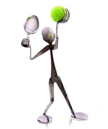 Take a look at this Spoon Tennis Player Sculpture by Forked Up Art on #zulily today!