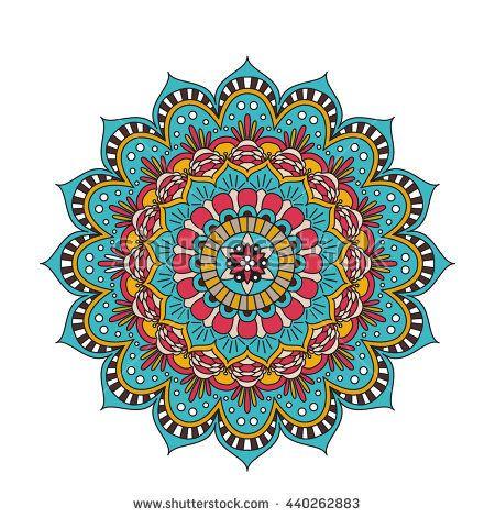 Vector Ornament Pattern. Vintage decorative element for print ot design. Islam, Arabic, Indian, ottoman motifs. Oriental colorful mandala.