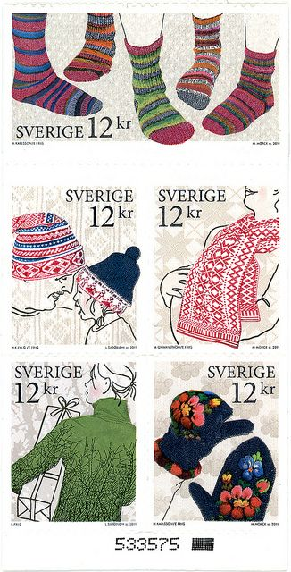 Knitting stamps from Sweden.