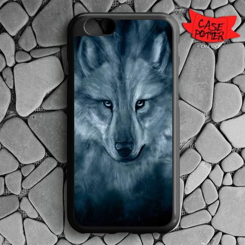 Wolf Painting iPhone 6 iPhone 6S Black Case
