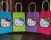 Hello Kitty Inspired Gift Bags/Loot Bags Pink,Purple,Aqua,Green