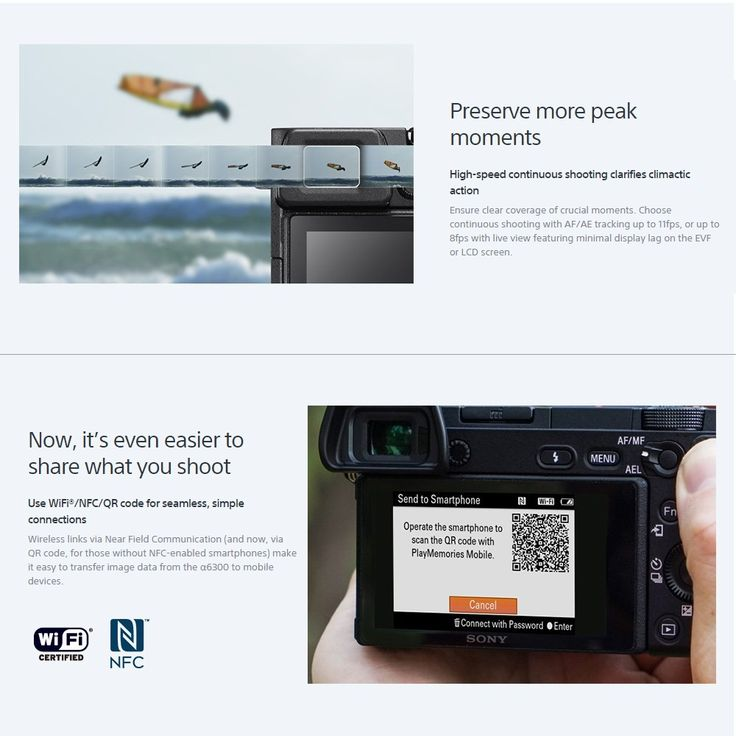 Sony A6300 ILCE-A6300L Mirrorless Digital Camera Sales Online Array - Tomtop