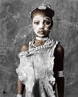 """Jan C. Schlegel: Alitash [9], Hamer tribe, Ethiopia    In the Hamar language Alitash's name means: """"I never want to lose you, whenever I look for you may I find you again always. You are a precious treasure""""."""