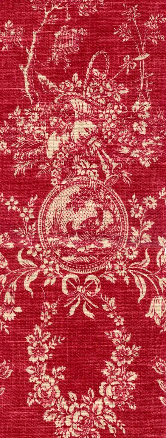 Vintage Inspired Red Toile tablelinen