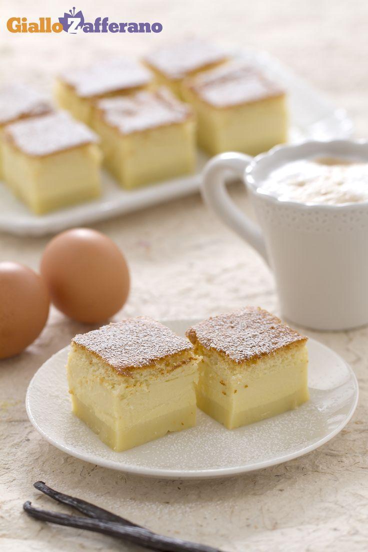 La TORTA MAGICA (magic cake) è un #dessert con un'unica preparazione, ma tre diverse consistenze golose: un intenso flan, un morbido budino e un soffice pan di spagna! #video #ricetta #GialloZafferano #italianfood