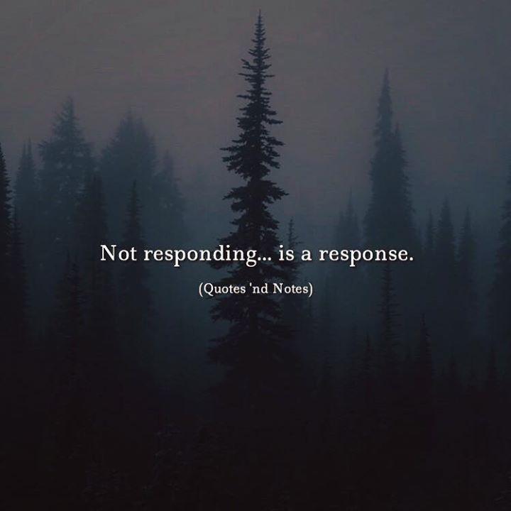 Not responding... is a response. via (http://ift.tt/2zGQEAi)