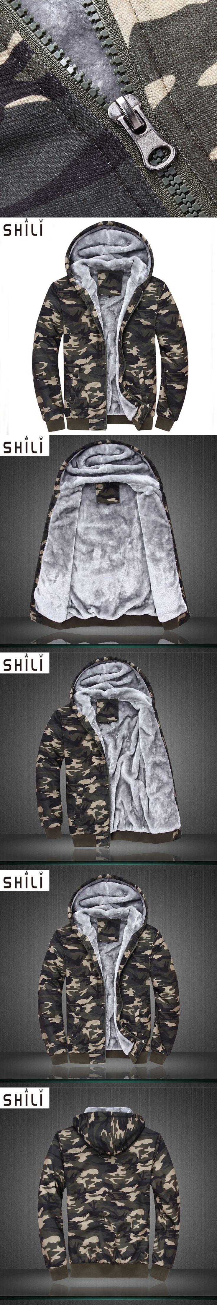 2017 Autumn and winter New Thick Velvet Men Hoodies Cotton Plus Size Zip-up Coat Long Sleeve Cashmere Warm Hoodies Basic Jackets