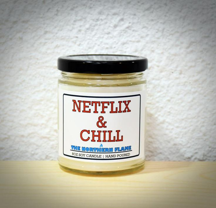 Netflix & Chill Candle | Valentines Day Gifts for Boyfriend | Funny Gifts for Boyfriend | Gifts for Men