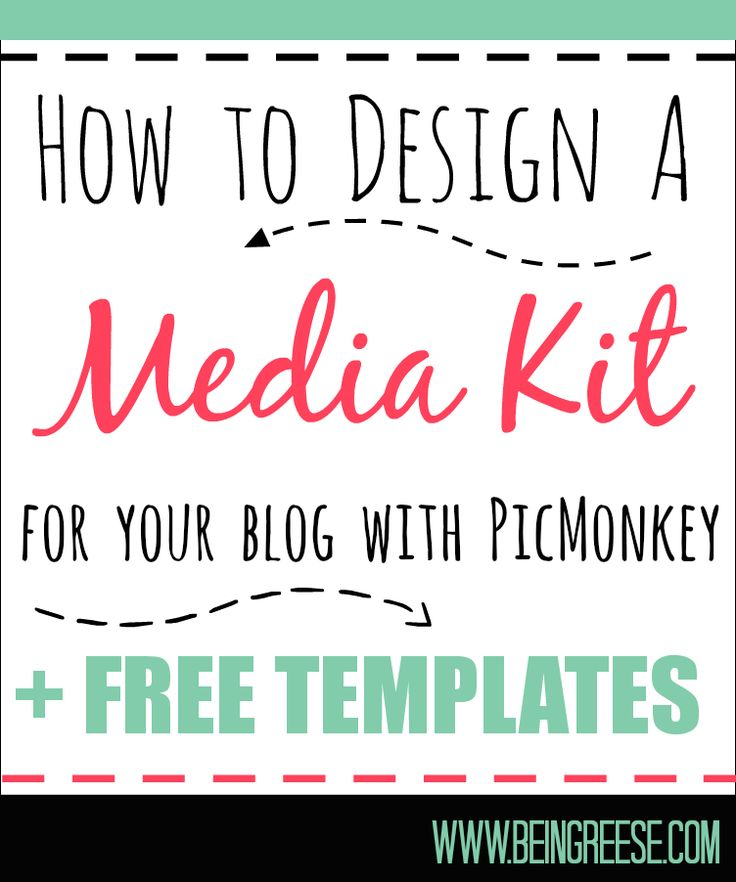 How to Design a Free Media Kit for Your Blog   Premade Templates