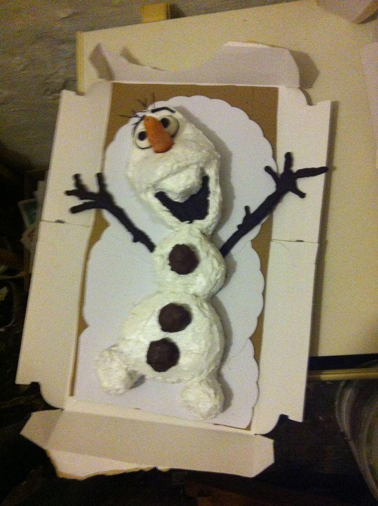 Gâteau Olaf maison - 4 ans Lily - Meringue italienne