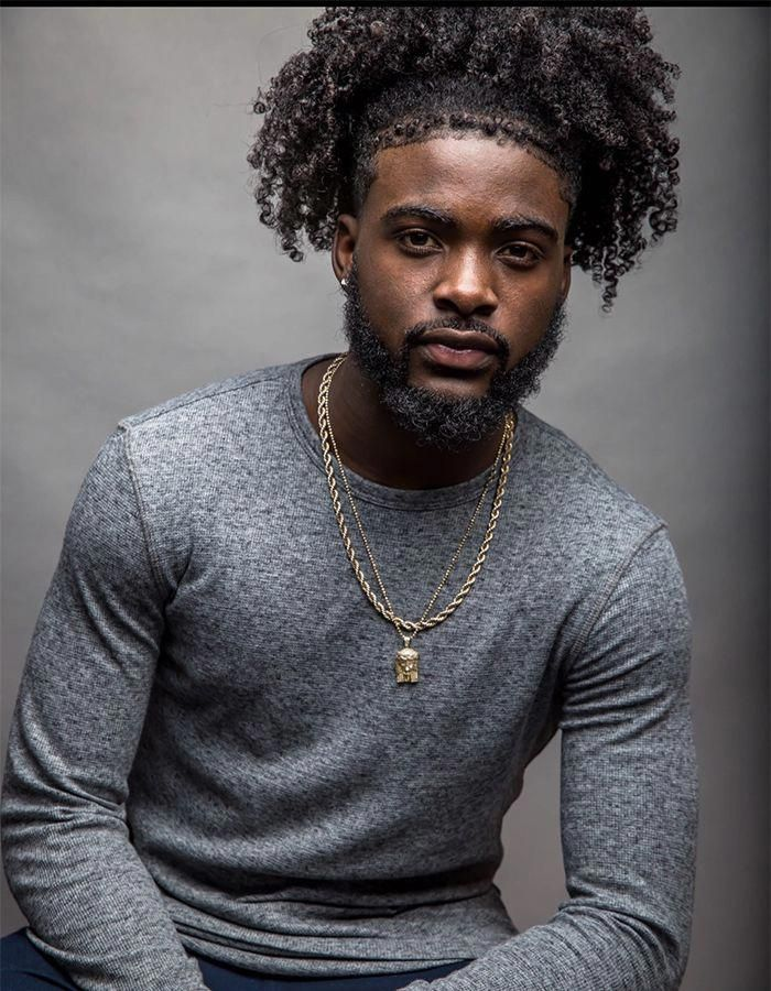 Twist Out Ponytail With Fade Naturalblackhairstyles Curly Hair Men Long Hair Styles Men Mens Hairstyles