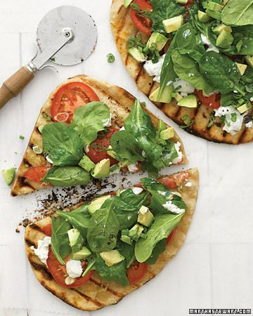 West Coast Grilled Vegetable Pizza.
