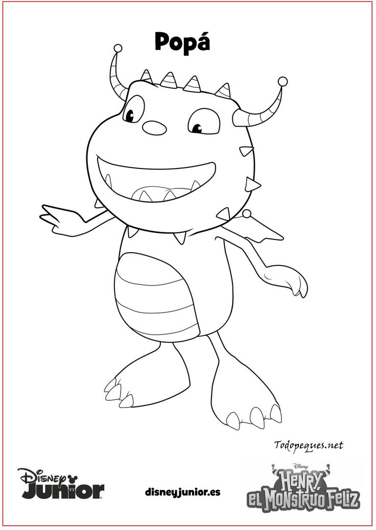 henry wiggle bottom coloring pages - photo#5