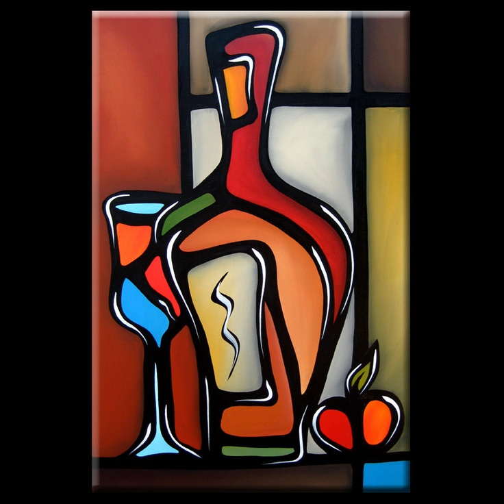 Tannins - Original Large Abstract Contemporary Modern Expressionism Wine Art Painting by Fidostudio. $399.00, via Etsy.