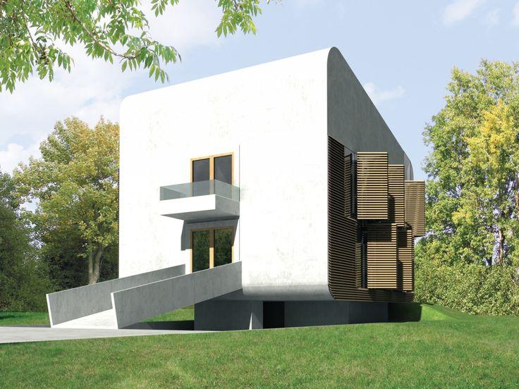 Dom został zaprojektowany jako wysoko energooszczędny, z wykorzystaniem rekuperacji, kolektorów słonecznych, ogniw fotowoltaicznych oraz pompy ciepła.