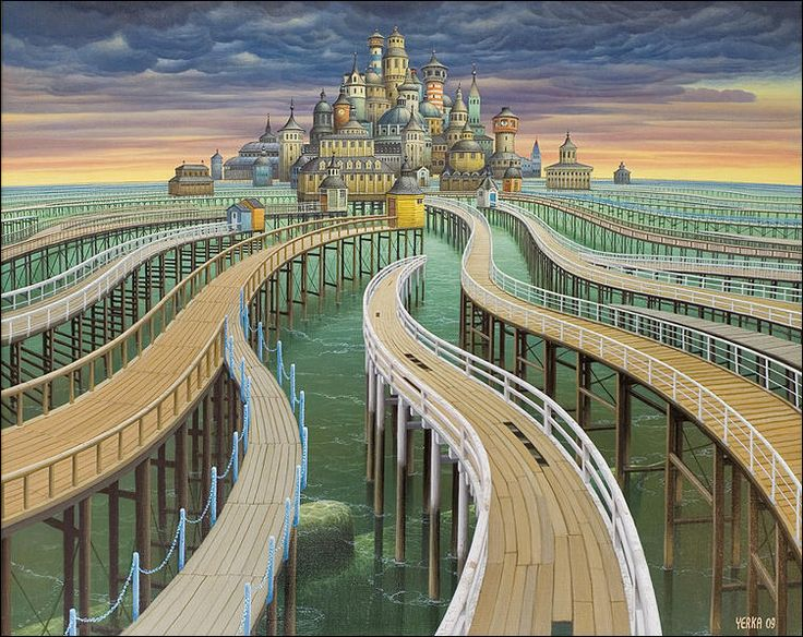 удивительные миры художника Jacek Yerka