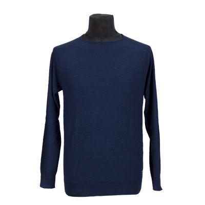 Maglia - NEROVAGO - Maglia in puro cotone manica lunga - Blu - Estivo. € 14,50. #hallofbrands #hob #maglia #sweater #jersey #knitwear