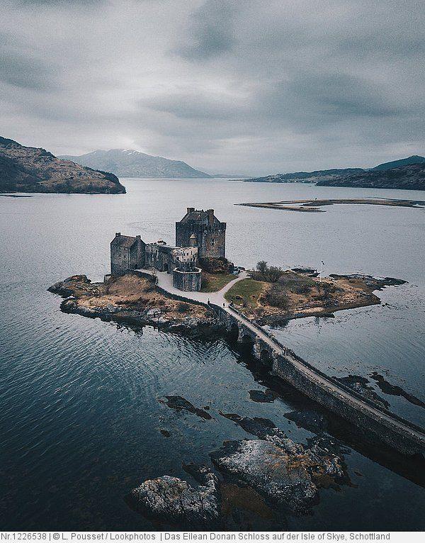 Das Eilean Donan Schloss Auf Der Isle Of Skye Schottland In