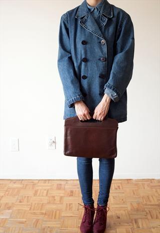 Vintage Ralph Lauren jeans denim trench jacket 90's style