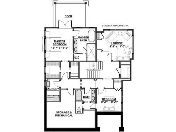 Basement house plan code hwepl76433 floor plans 1 Single floor house plans with basement