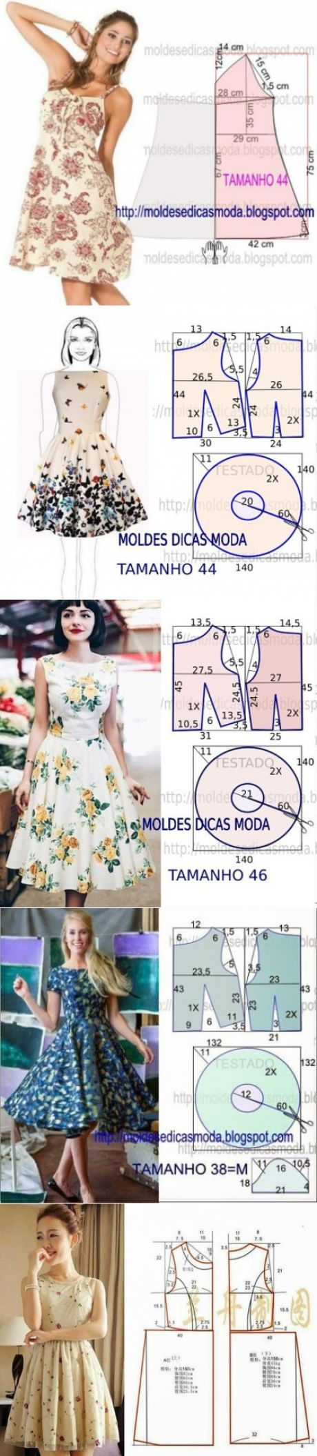 patrón simple bellos vestidos de verano