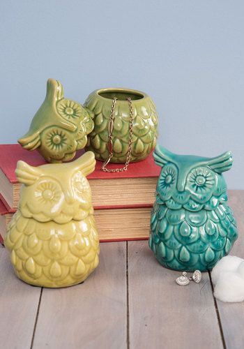 Hoots the Boss? Container, #ModCloth