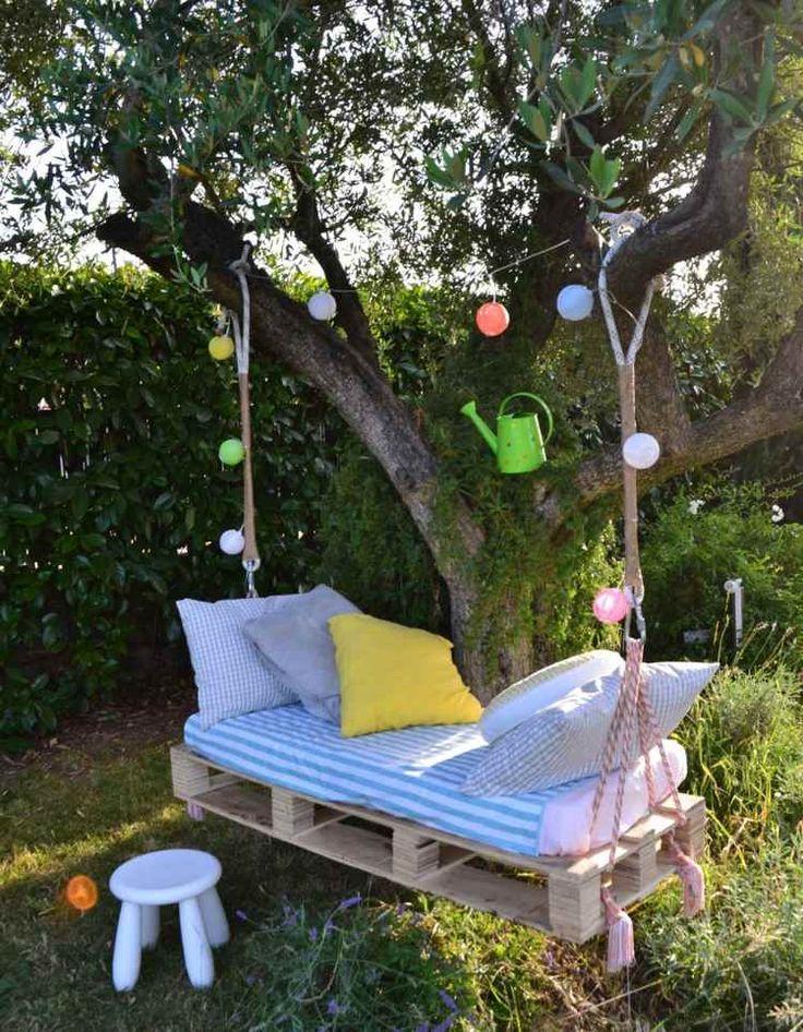 Perfect Euro Paletten Schaukel f r entspannende Minuten im Garten