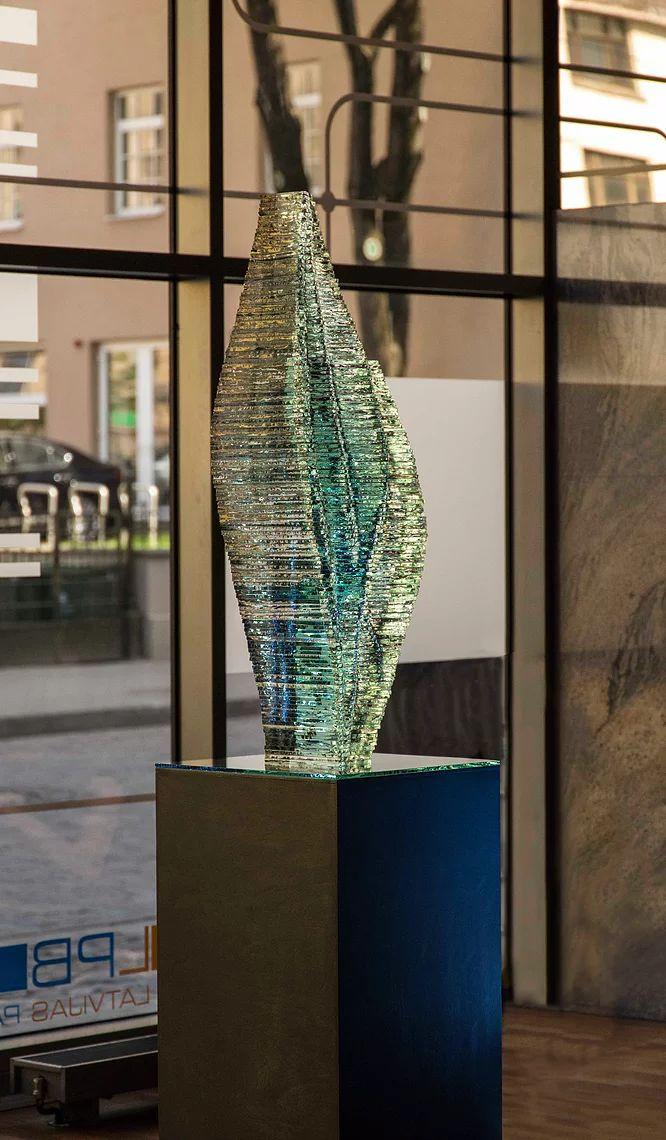 Ernest Vitin Layered Glass Design | Caleo Purchase Enquiry    stacked glass art, monumental glass art, stikla dizains, stikla māksla, stikla mākslinieks ernests vītiņš,