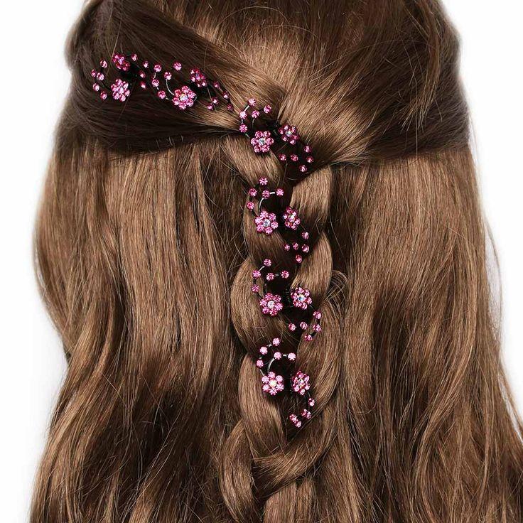 6Pcs/pack Mini Headwear Rhinestone Bridal Hair Claws for Women Snowflake Hair Pins and Clips Flower Girl Hair Accessories